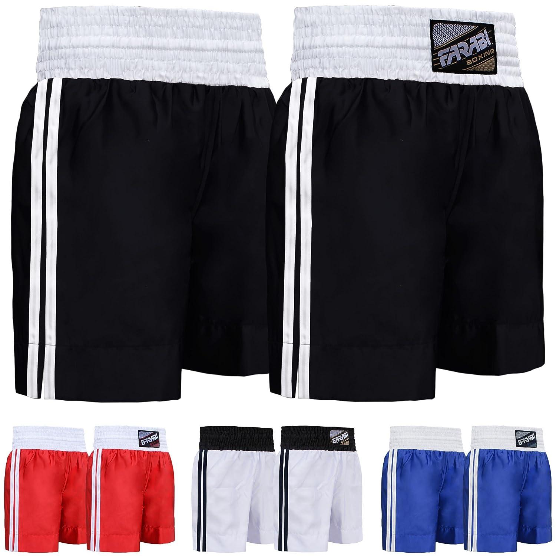 info for 67e7d 5e64f Farabi Pro Combat Shorts for Boxing MMA Muay Thai Fight Shorts Gym Training  Workout Bjj Thai Trunks Satin Black Red Blue Shorts Mix Martial Arts Cage  ...