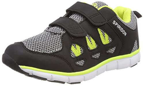 Bruetting Spiridon Fit V, Zapatillas Unisex Adulto, Negro (Schwarz/Grau/Lemon), 36 EU