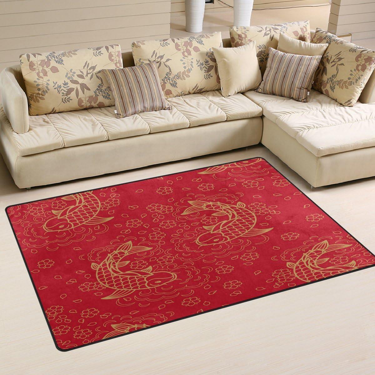 WOZO Vintage Sunflower Floral Area Rug Rugs Non-Slip Floor Mat Doormats Living Room Bedroom 60 x 39 inches