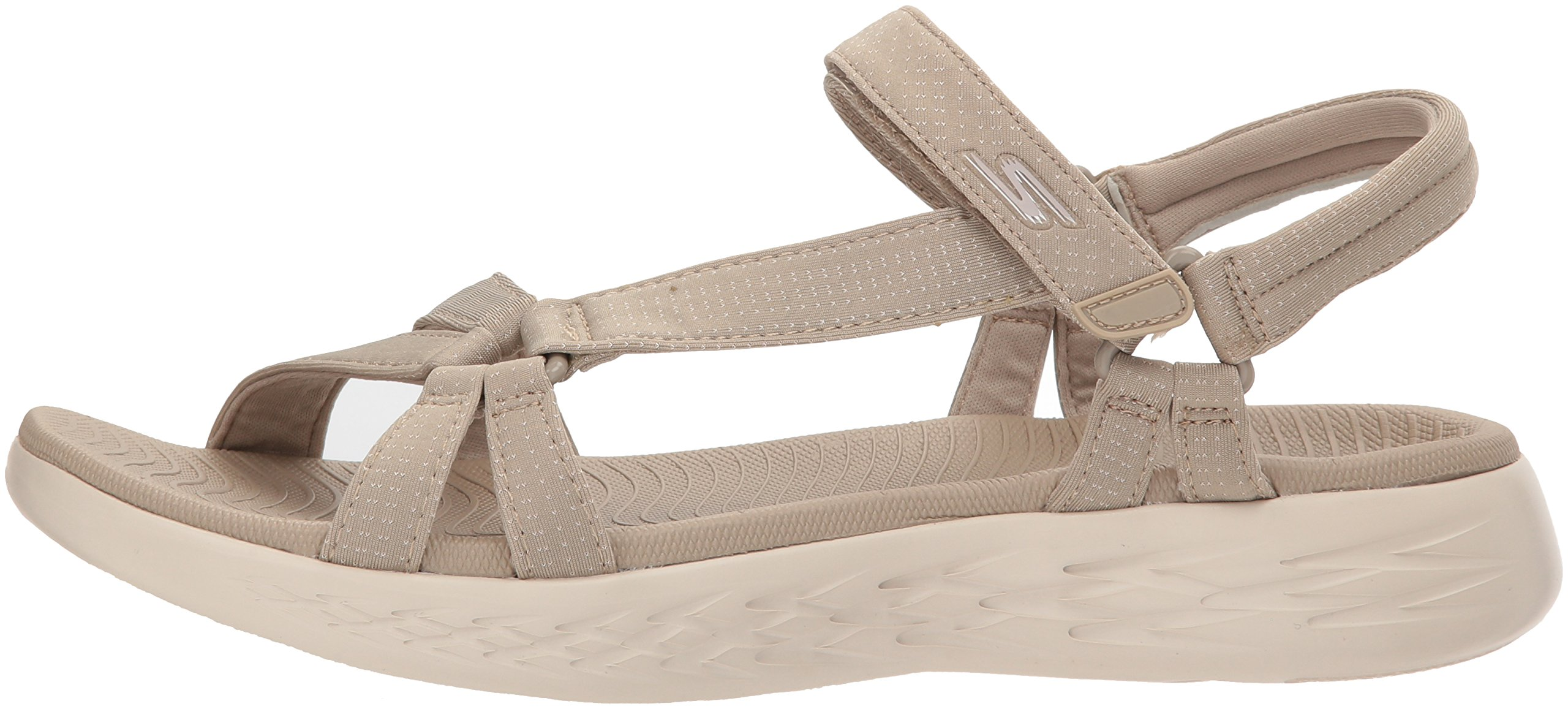 Skechers Performance Women's on-The-Go 600-Brilliancy Wide Sport Sandal,Natural,6 W US by Skechers (Image #5)