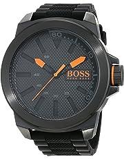 Hugo Boss Orange New York Men's Quartz Analogue Classic Black Silicone Strap 1513004