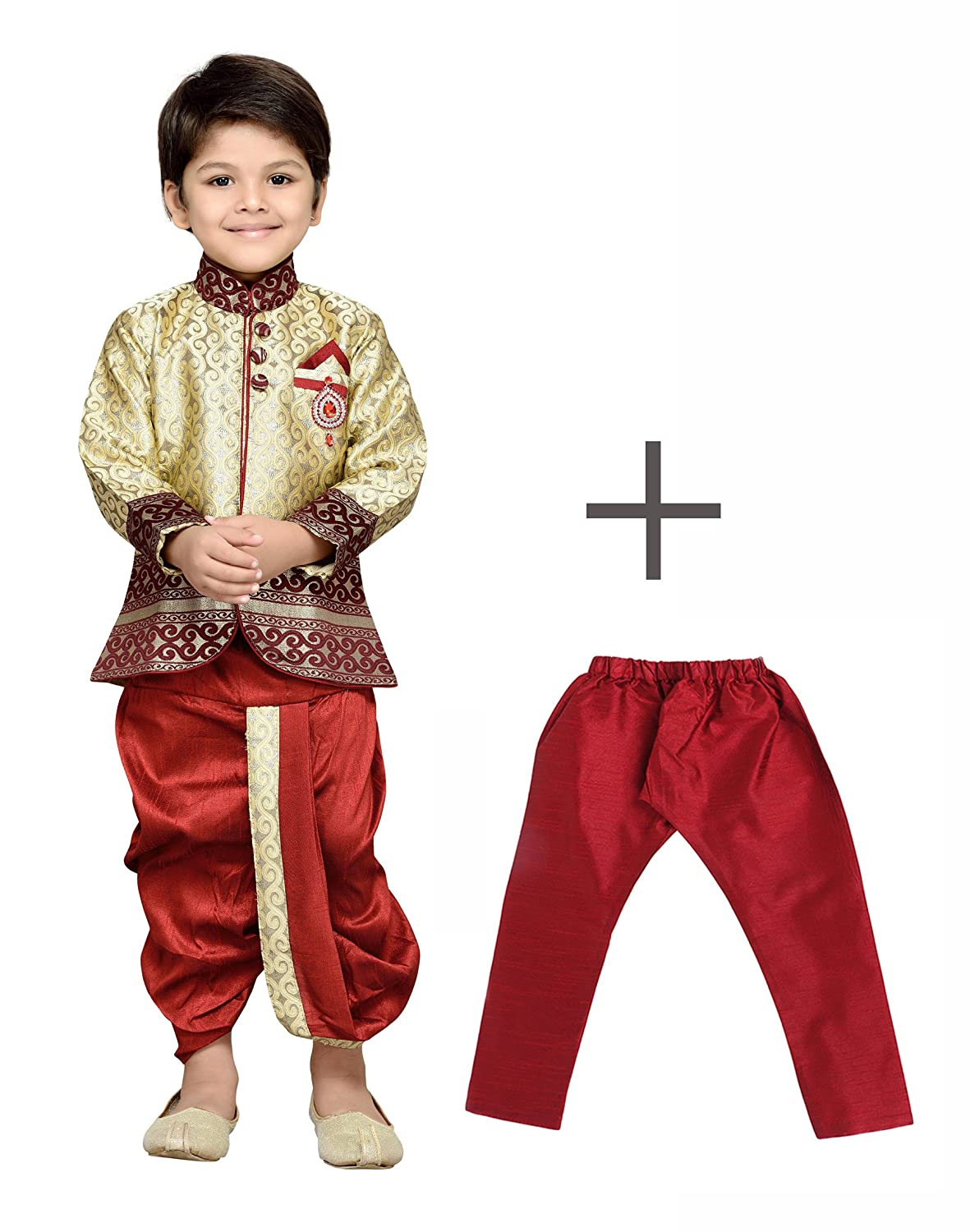 AJ Dezines Kids Indian Wear Bollywood Style Kurta Pyjamas Dhoti for Boys 9001-$P