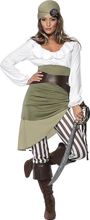Black Diamonte Pirate Eye Patch Adults High Seas Fancy Dress Accessory