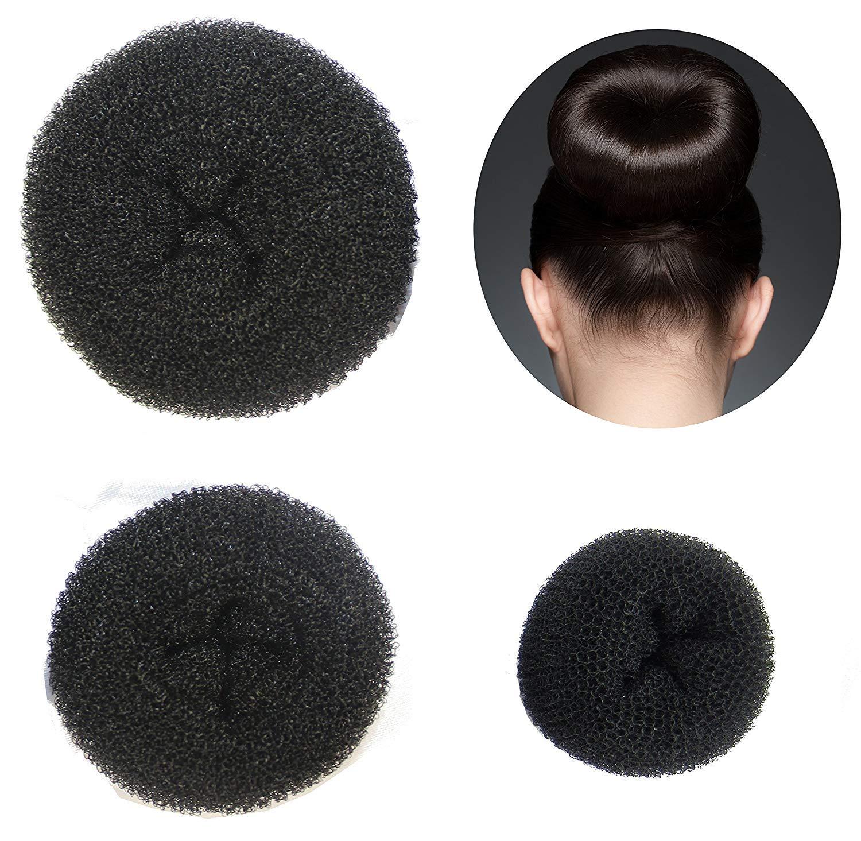 Set di 3accessori per capelli ciambella chignon Makers (1piccolo, 1medio, 1grande) TOVTO AK01