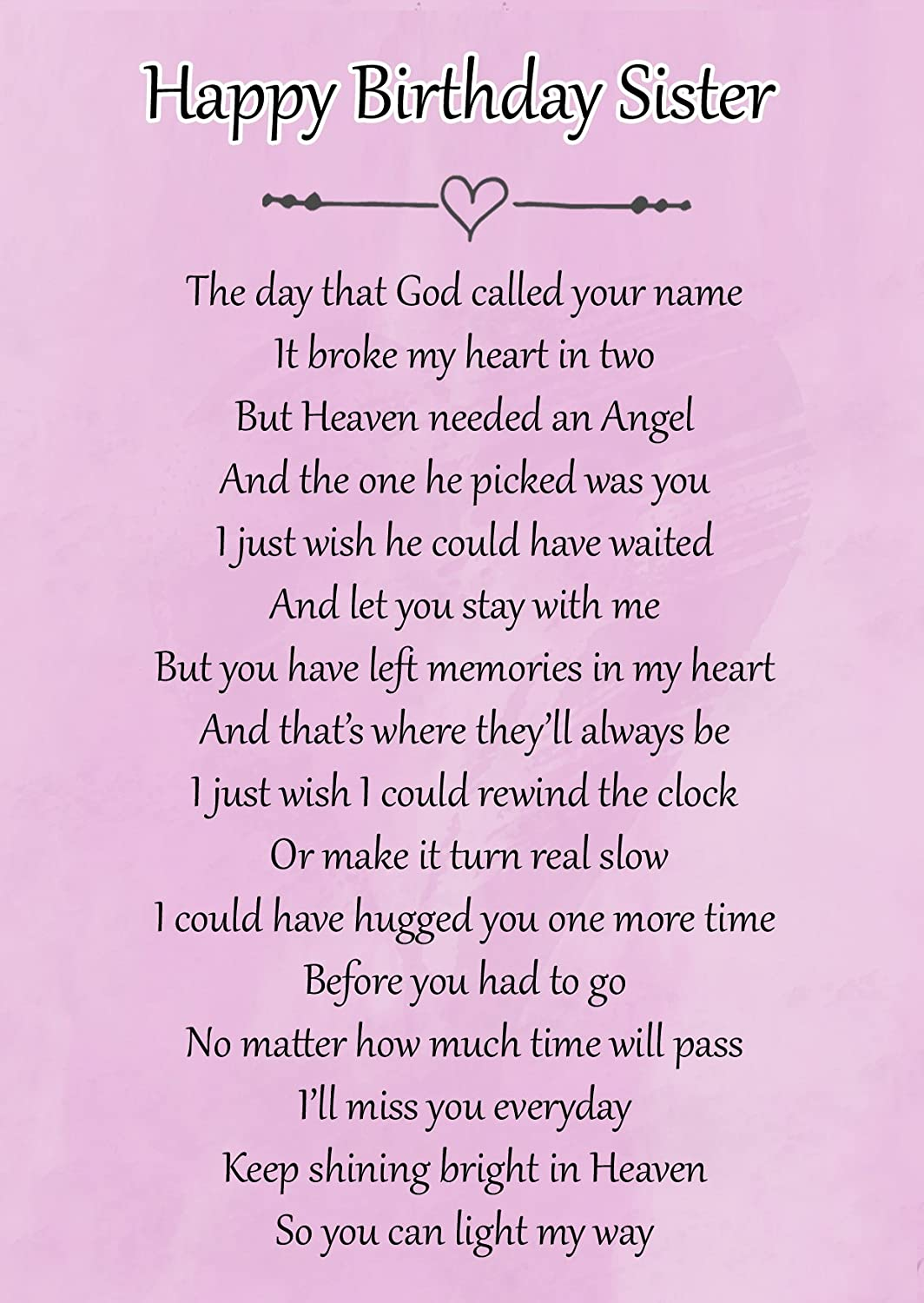 Graveside Memorial Laminated Card In Loving Memory On Your