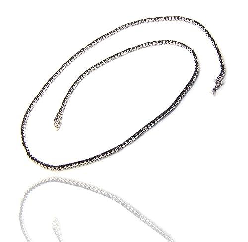 design di qualità 24211 eebc3 Collana Collier donna o uomo modello Tennis in argento 925 ...