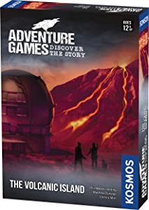 Adventure Games: The Volcanic Island – Choose Your Own Adventure Game | A Kosmos Game from Thames & Kosmos | Collaborative, Replayable Storytelling Game Experience for 1 to 4 Players | Ages 12+