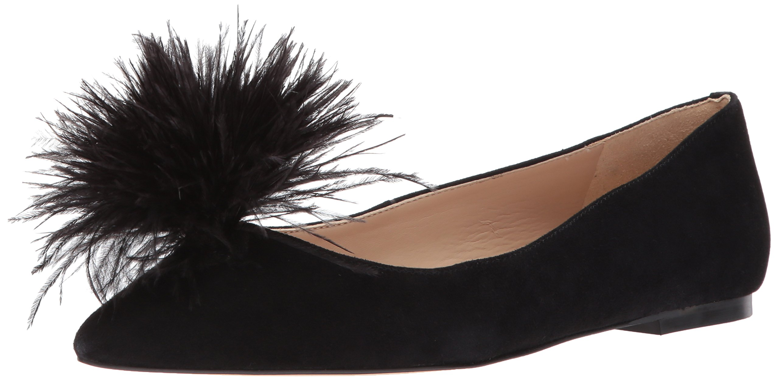 Sam Edelman Women's Reina Ballet Flat, Black Suede, 7.5 Medium US by Sam Edelman