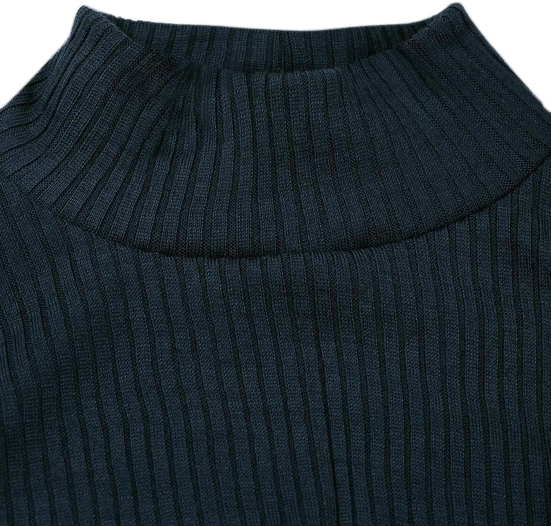 DILLING Rippshirt f/ür Damen mit Stehkragen aus 100/% Bio-Merinowolle