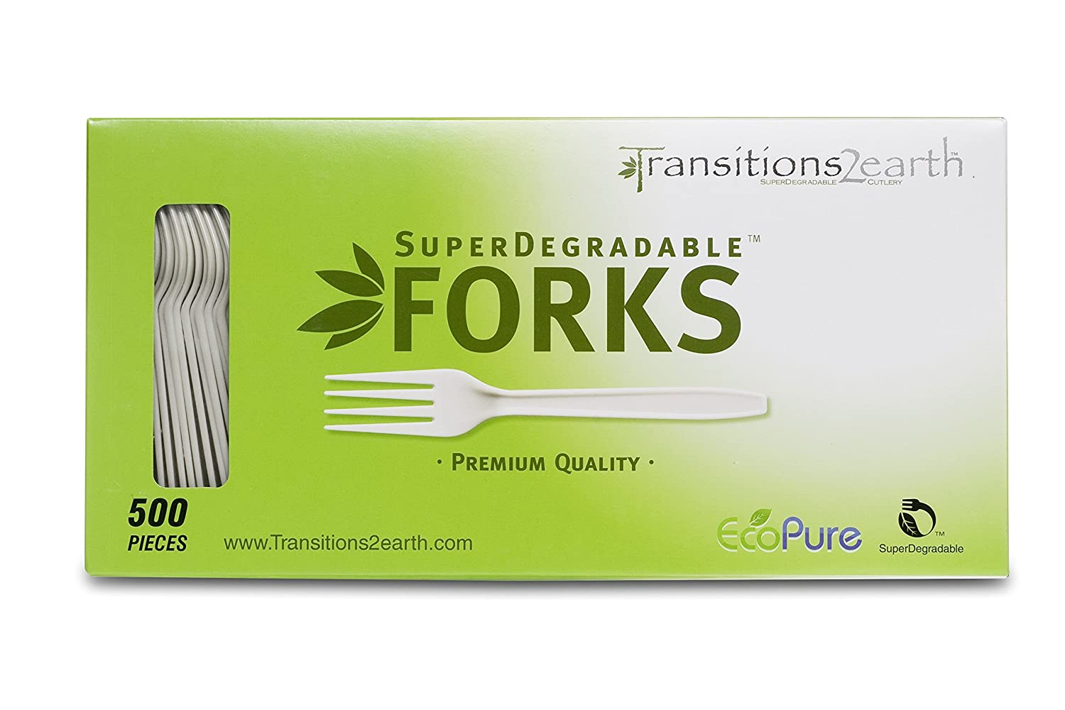 Transitions2earth Biodegradable EcoPure Forks - Box of 500 by ...