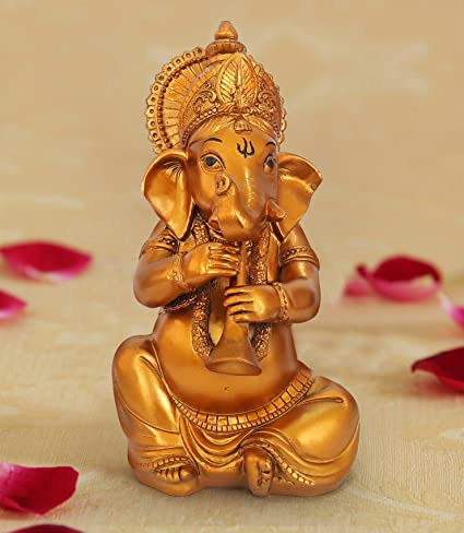 Buy Ganesh Idols for Home Decor | Gifts for House Warming Ceremony | showpiece for Drawing Room (Ganesha Playing Shahnai) Online at Low Prices in India ...