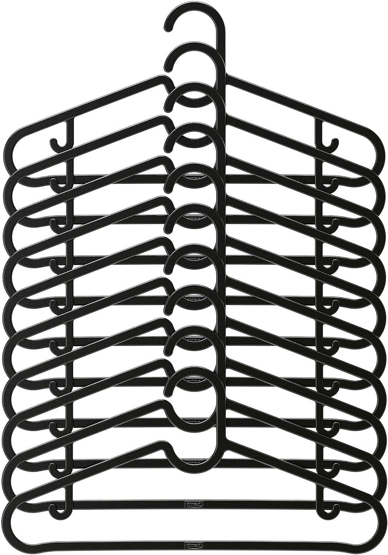 spruttig Pack de 10/perchas de pl/ástico negro gancho y barra fija gancho IKEA