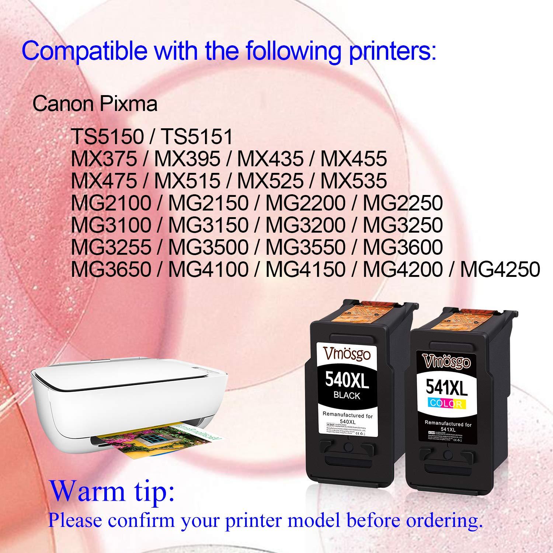 Vmosgo Remanufacturado Canon 540 541 PG-540 CL-541 Cartuchos de ...