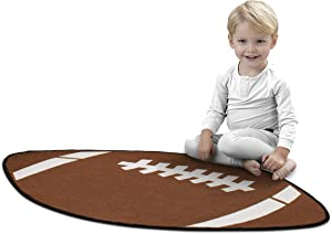 Delta Children Non-Slip Area Rug for Boys, Football