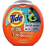 Tide PODS 4 in 1, Plus Febreze, Laundry Detergent Liquid Pacs, Sport Odor Defense, Active Fresh Scent, 61 Count - Packaging M