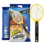 Zap-It! Mini Bug Zapper - Rechargeable Mosquito, Fly Killer and Bug Zapper Racket - 3000 Volt - USB Charging, Super-Bright LED Light to Zap in the Dark