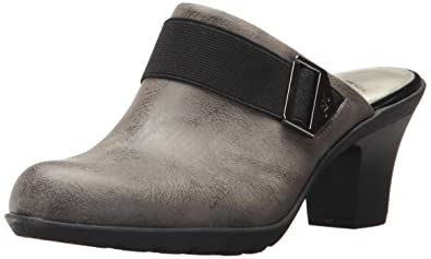 Anne Klein Women's Hangout Synthetic Clog Taupe Size 6.5