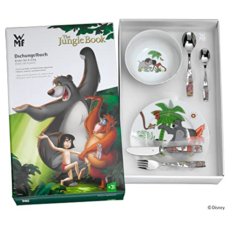 Amazon.com: WMF Juego De Cubiertos Para Niños El Libro De La Selva 6 Piezas: Home & Kitchen