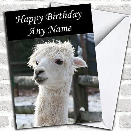 Bonita tarjeta de cumpleaños con sobre, diseño de Alpaca ...
