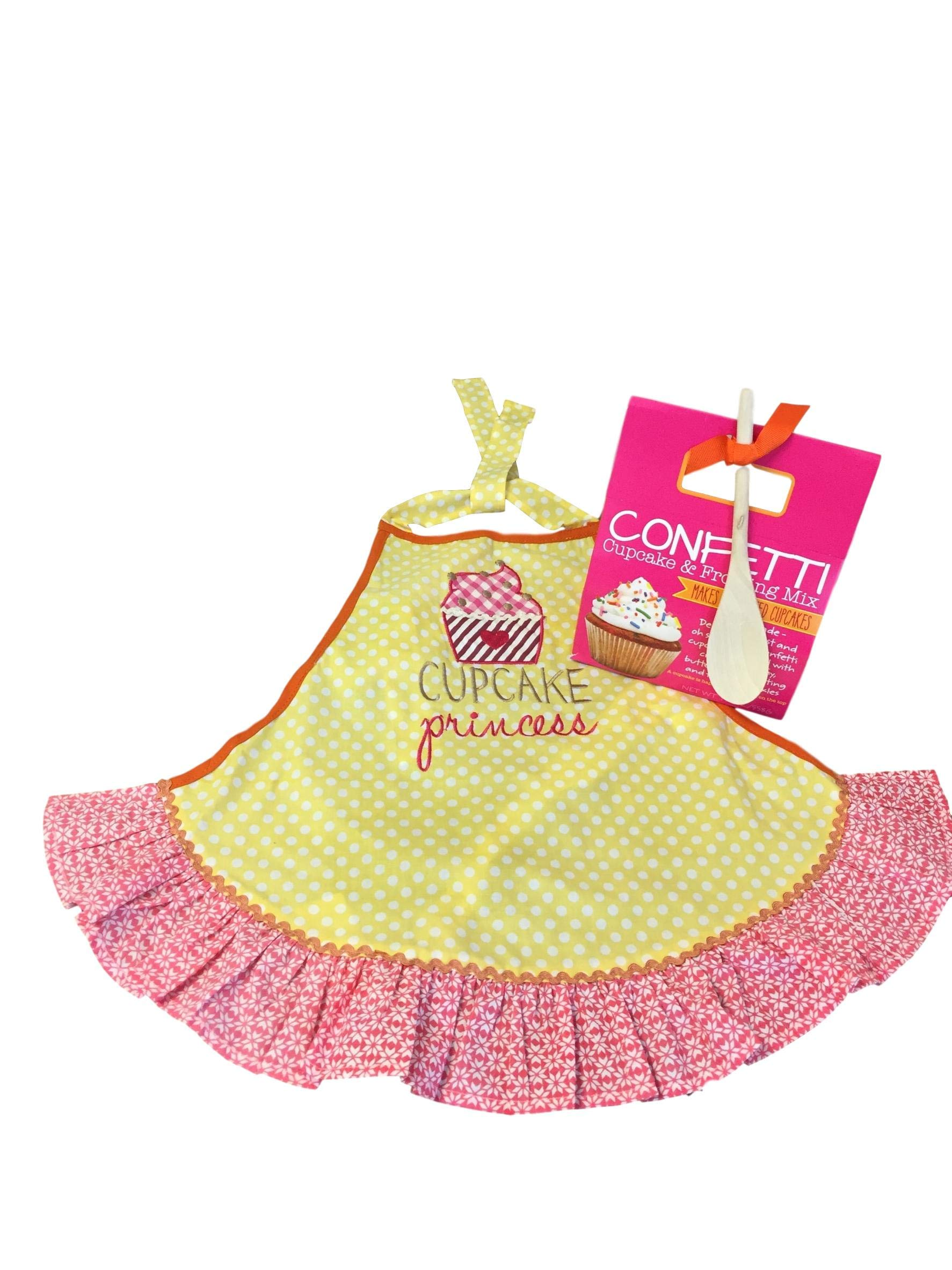 Baking Bundle with Girl's 'Cupcake Princess' Apron and Confetti Cupcake & Frosting Kit
