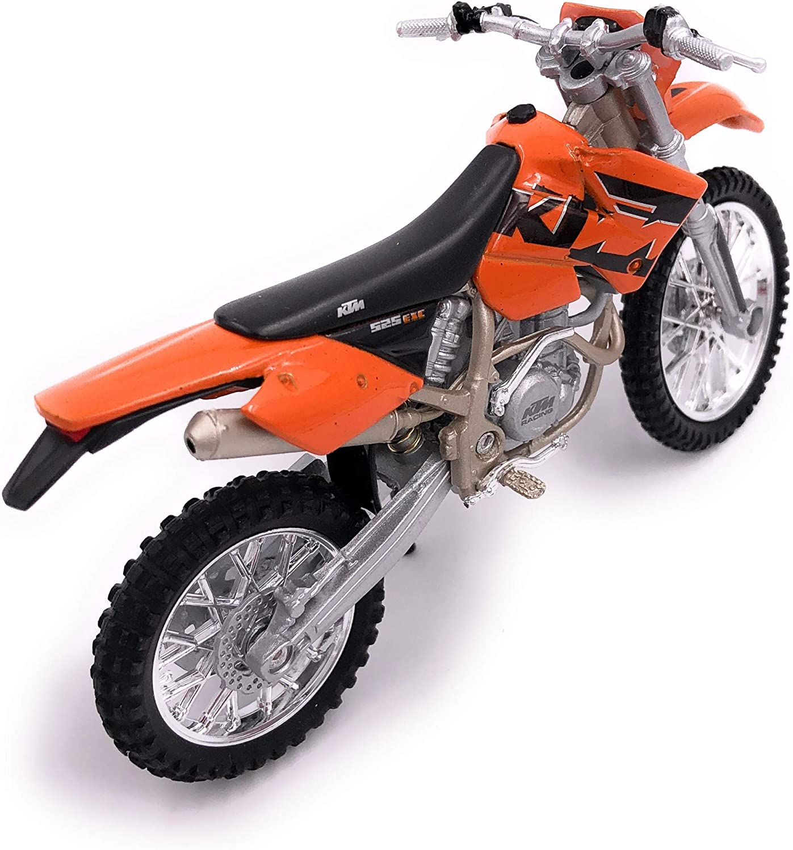 H-Customs Moto V/élo EXC 525 Orange Enduro Mod/èle Endoscopique Licence 1:18
