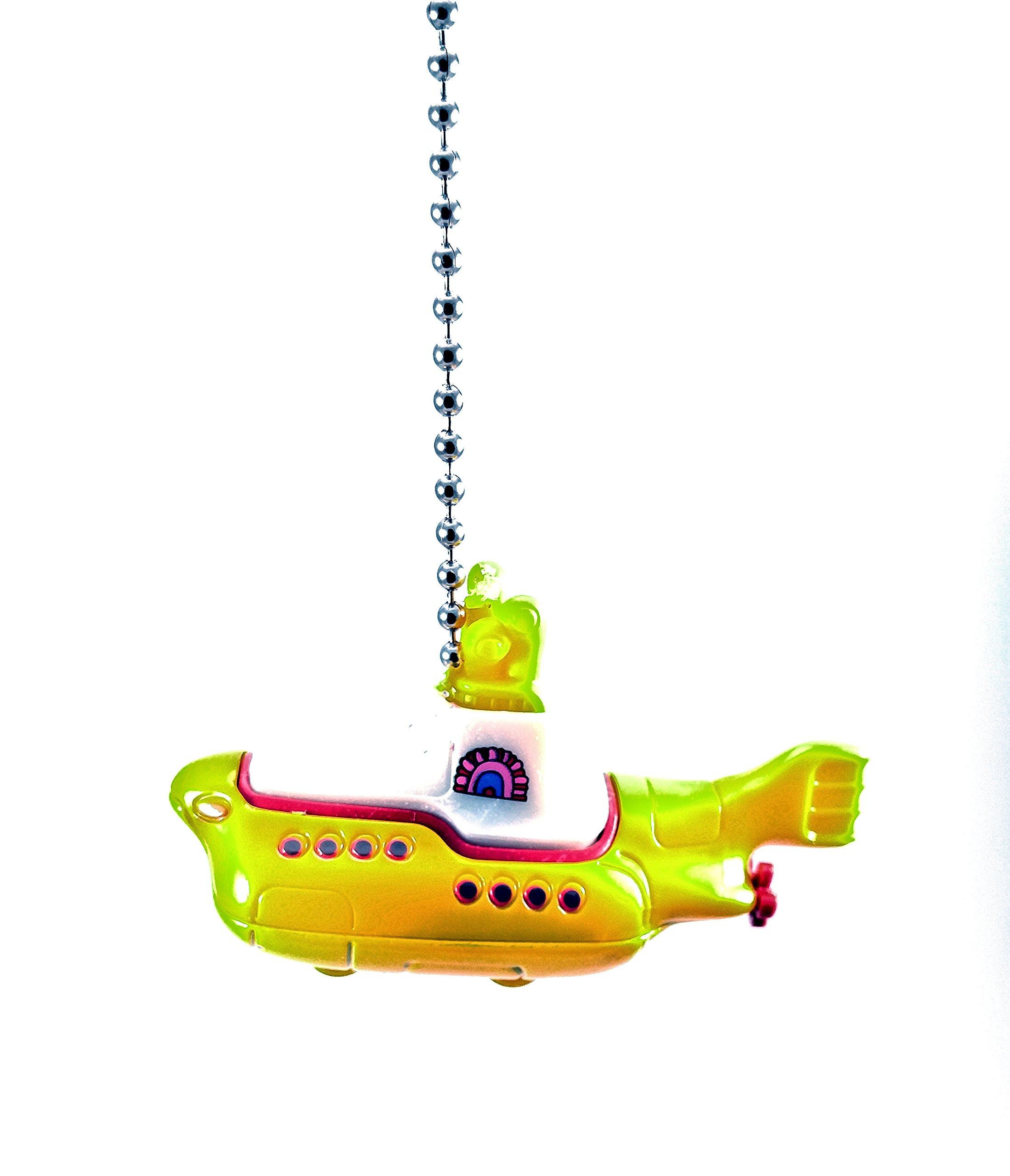Beatles Yellow Submarine Diecast Ceiling Light Fan pull, Christmas Ornament, pendant, Keychains (Beatles Yellow Submarine)