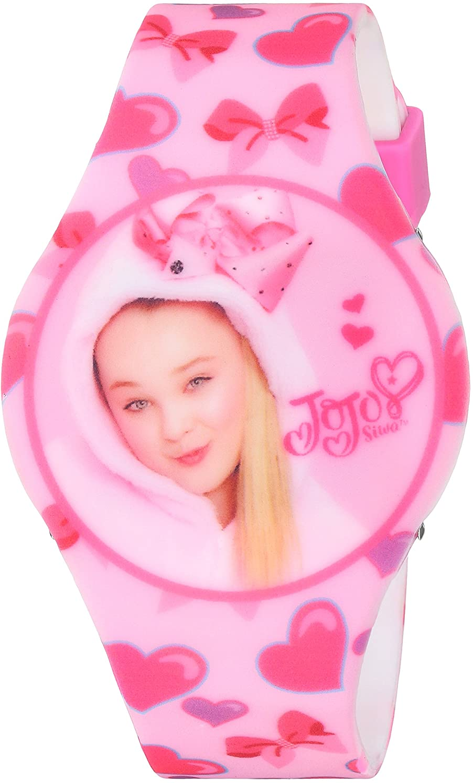 Nickelodeon Girls' Quartz Watch with Rubber Strap, Pink, 25 (Model: JOJ4011)