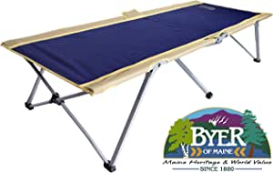 "BYER OF MAINE Easy Cot, Full Size 78"" L X 31"" W X 18"", Easy to Assemble, Ideal for Guest Bed, 330lb Weight Limit, Camp Cots for Adults, Folding Cot, Cot for Sleeping, Comes with Travel Bag, Single"