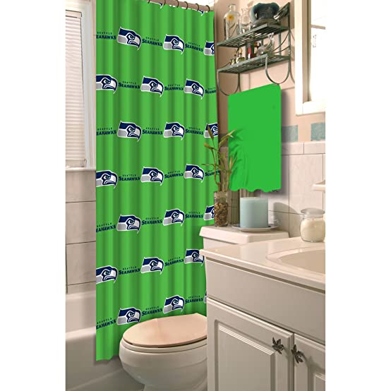 Northwest 1NFL903000020RET NFL Washington Redskins Shower Curtain Football Team Logo Bath Accessory 903