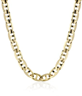 mm inches cuban chain link mens yellow chains gold miami