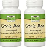 Now Foods - Citric Acid, 4 oz powder (Pack of 2)