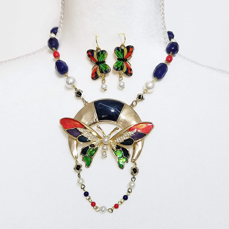 Vintage butterfly pendant