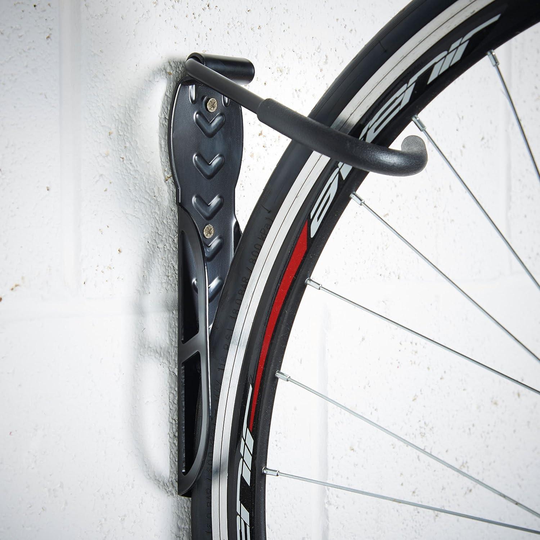 VonHaus Fahrradhalterung Bike Haken zur Wandmontage Fahrrad Wandhalterung 2-teilig /& Plastikbeschichtete Wandaufh/ängung f/ür Fahrr/äder Stahl