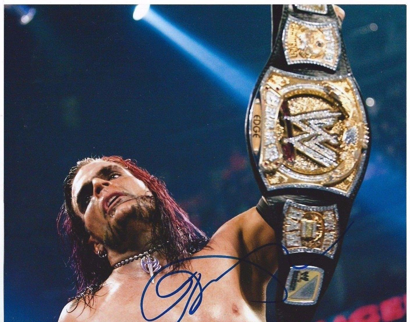 Wwe tna jeff hardy autographed 11x14 photo auto signed autograph - Jeff Hardy Signed Wwe Champion 8x10 Photo Autographed Wrestling Photos At Amazon S Sports Collectibles Store