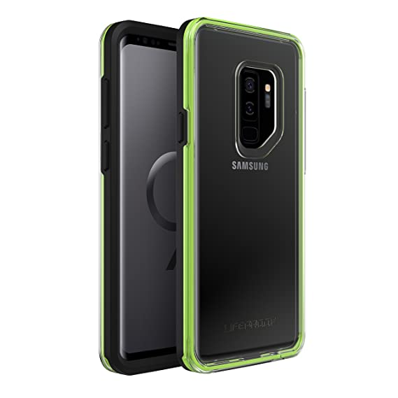 cheaper 0ea4d a837f Lifeproof SLAM SERIES DROPPROOF Case for Samsung Galaxy S9 Plus - Retail  Packaging - NIGHT FLASH (BLACK/GREEN)