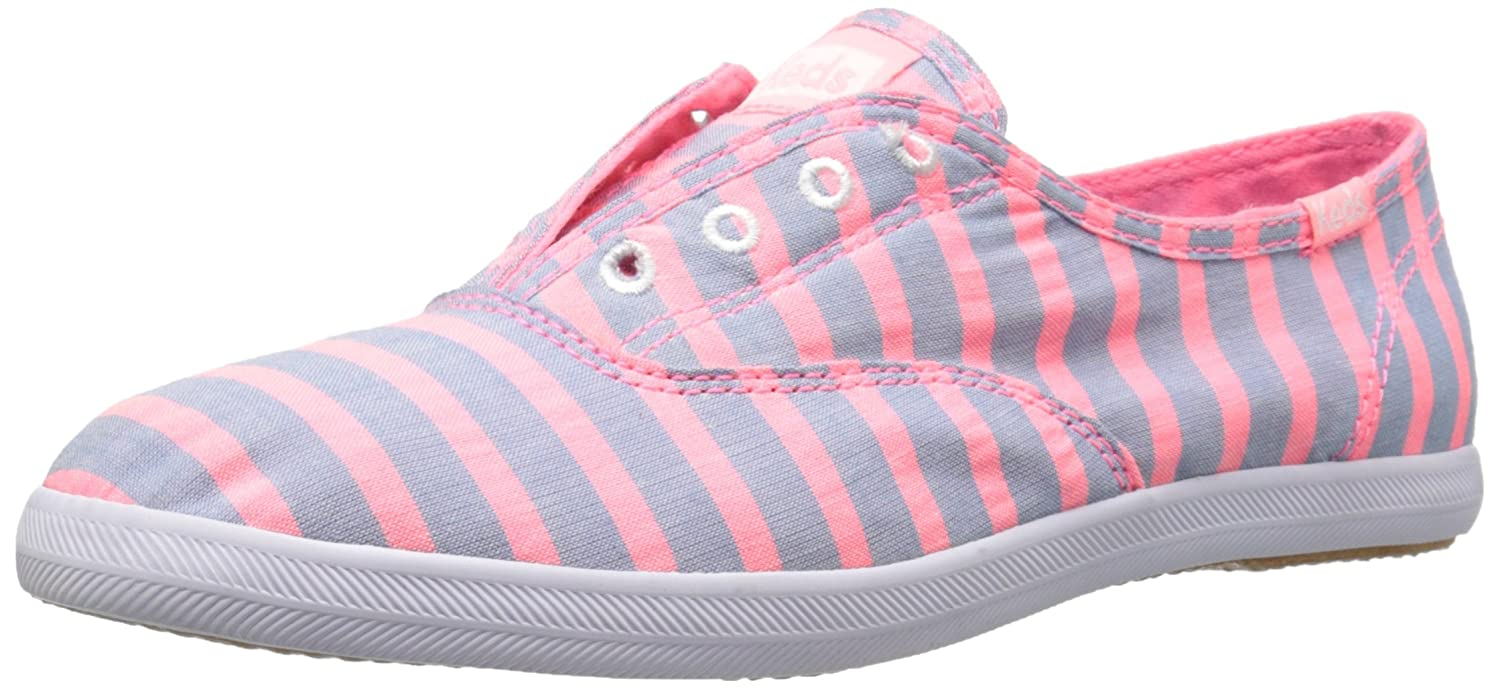 Keds Women's Chillax Washed Laceless Slip-On Sneaker B000AIJSCI 5.5 B(M) US|Neon Pink
