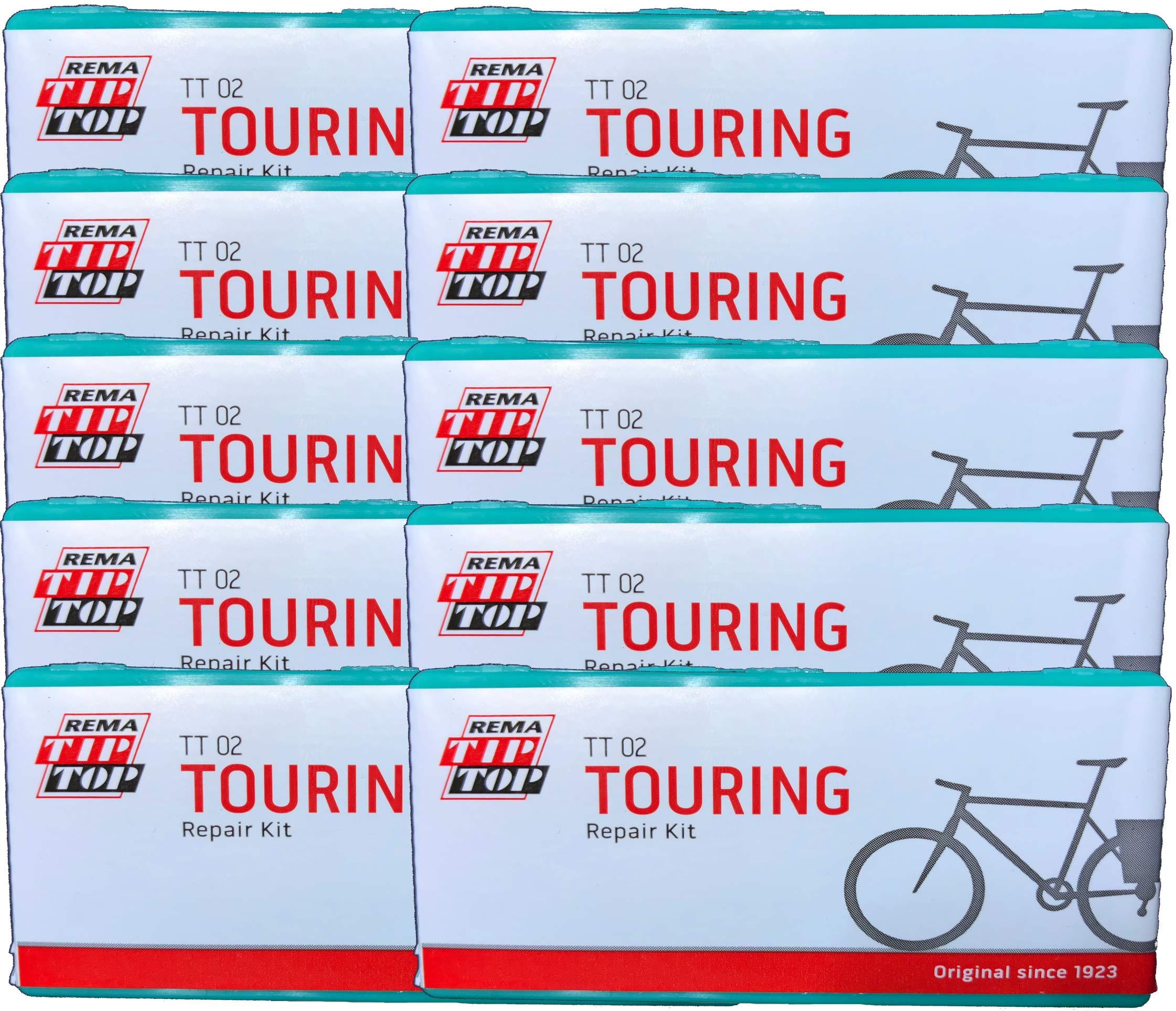 Rema Ten (10) Touring Bicycle Tube Patch Repair Kits TT02 (22) - Large TT O2