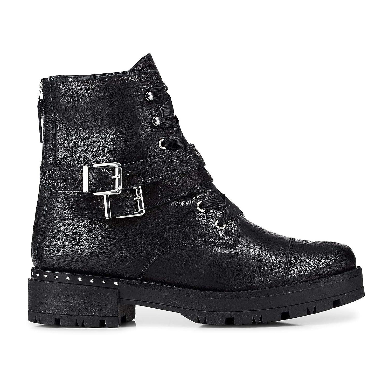 Cox Damen Trend-Stiefelette schwarz Leder 41