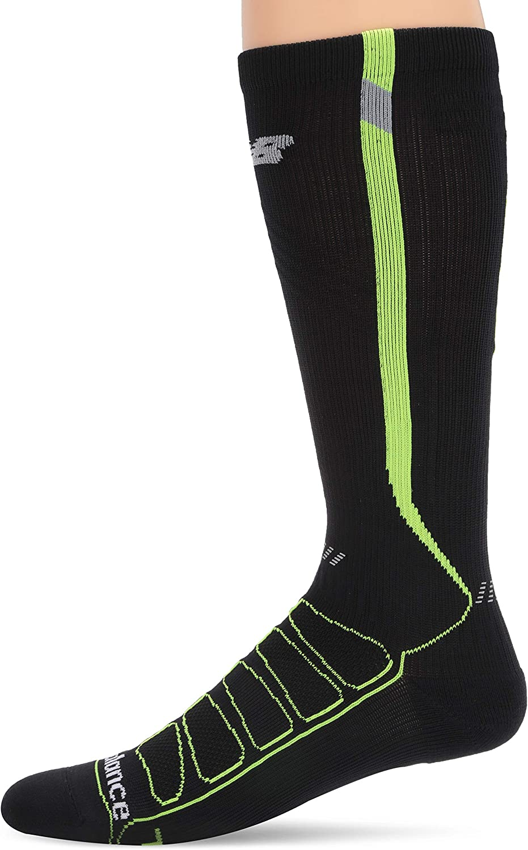 New Balance Reflective Graduated Compression Running Socks Size Medium
