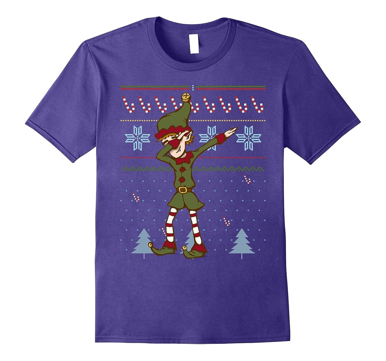 5668fa5c Funny Elf Dabbing Christmas Shirt Christmas Jumper Design – Hntee.com