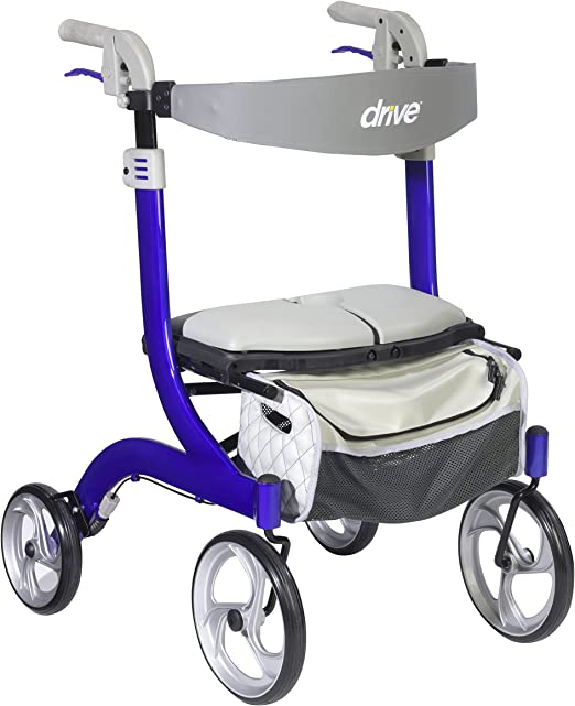 Drive Medical Nitro DLX Euro Style Walker Rollator, Champagne