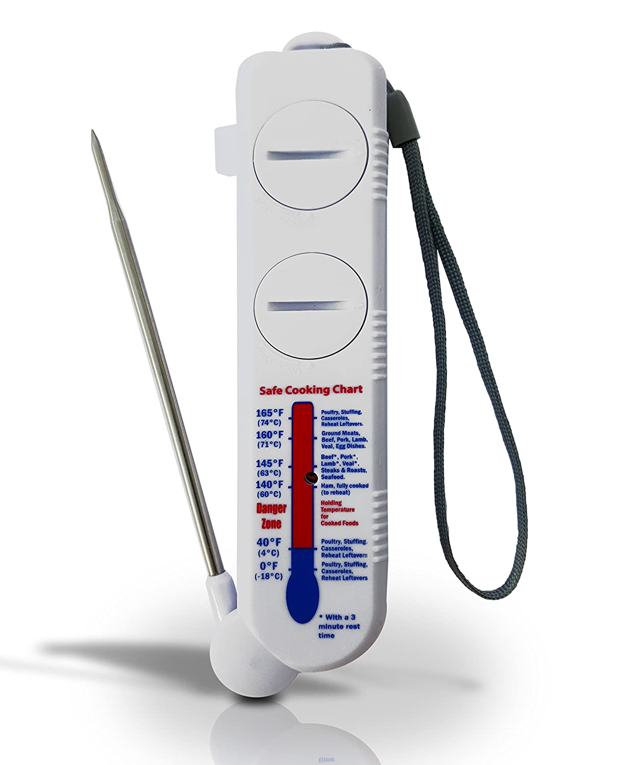 Digital Meat Thermometer Probe – ATUMN OFFER-High grade stainless steel, Fold Out Probe. Instant read for cooking checks in C° or F° Built in alarm. Batteries are included. CMM Online Sales