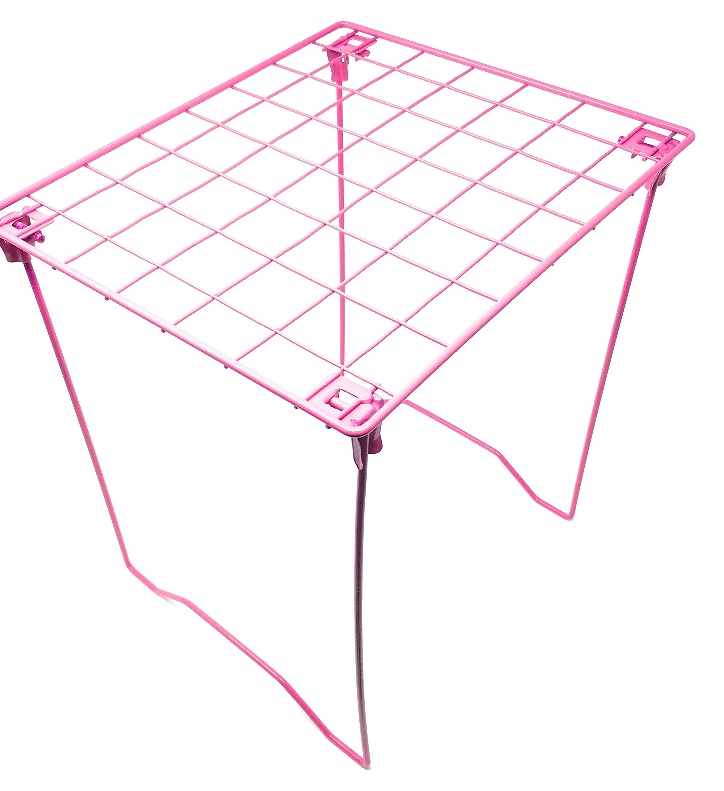 Hot Pink Locker Shelf - Foldable Stac Mate Shelf for Office, Home or School