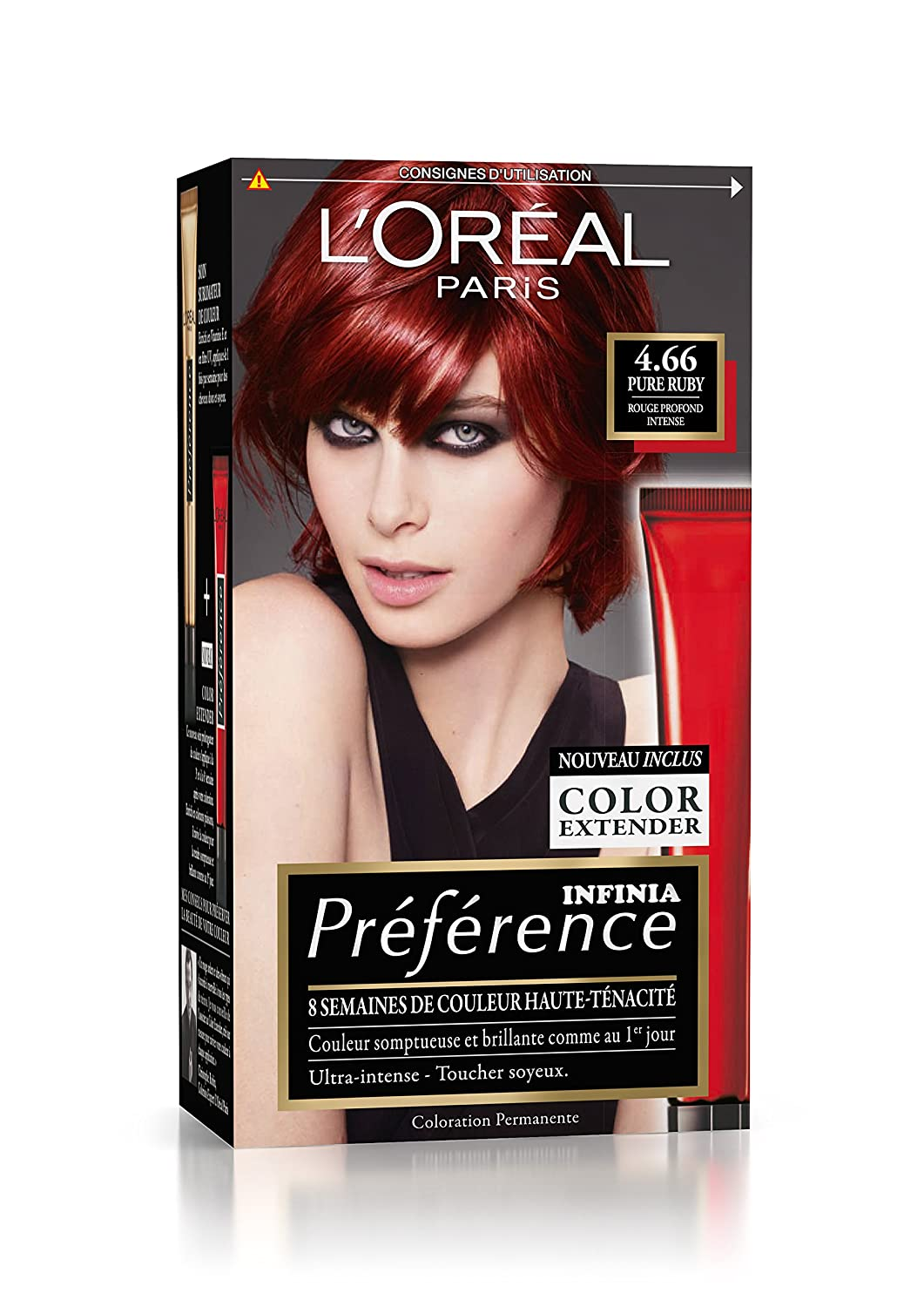 Coloration cheveux permanente rouge