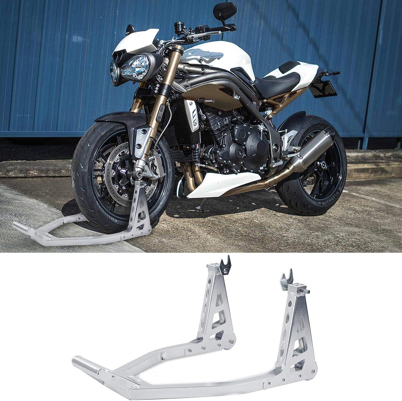 Carparts Online 27925 Motorrad Montageständer Mit Griff Rollbar Bis 340kg Alu Silber Auto