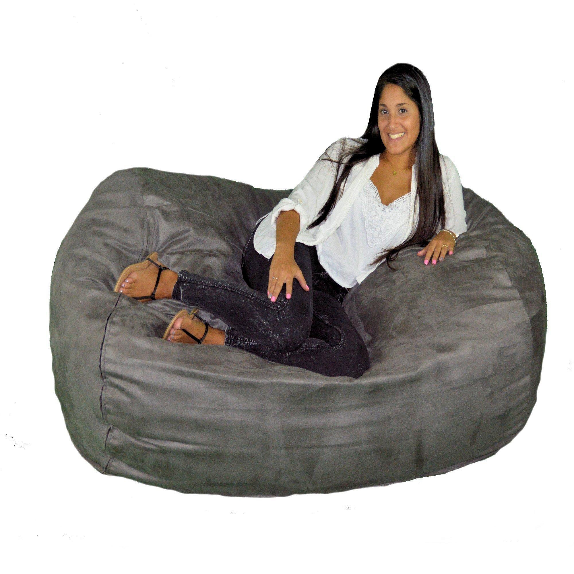 Cozy Sack 640-Cbb-Grey Maui Beanbag Chair, 6' , Grey