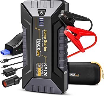 Tacklife 1200A Peak Car Jump Starter for up to 8L Gas and 6L Diesel Engines