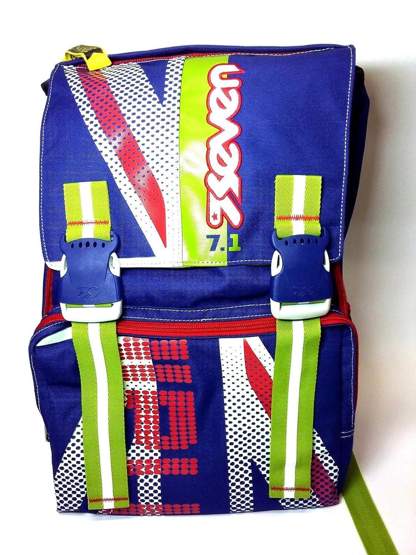 4ac1953410 Zaino ESTENSIBILE SEVEN SEVEN SEVEN sdoppiabile Cambia colore blu FLAGS BLU  verde ROSSO 39da8d
