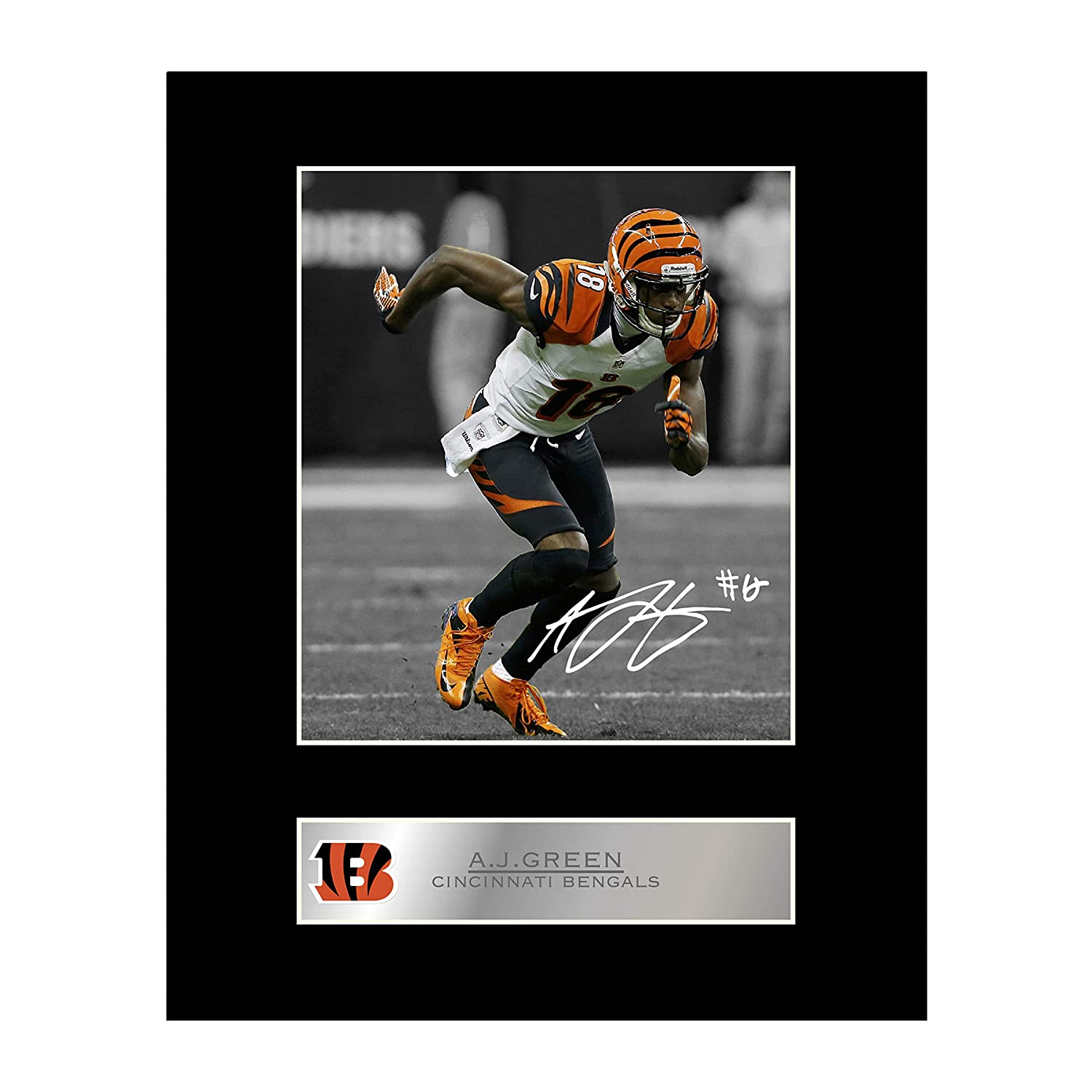 J Green Signed Mounted Photo Display Cincinnati Bengals #1 Autographed Gift Picture Print iconic pic A