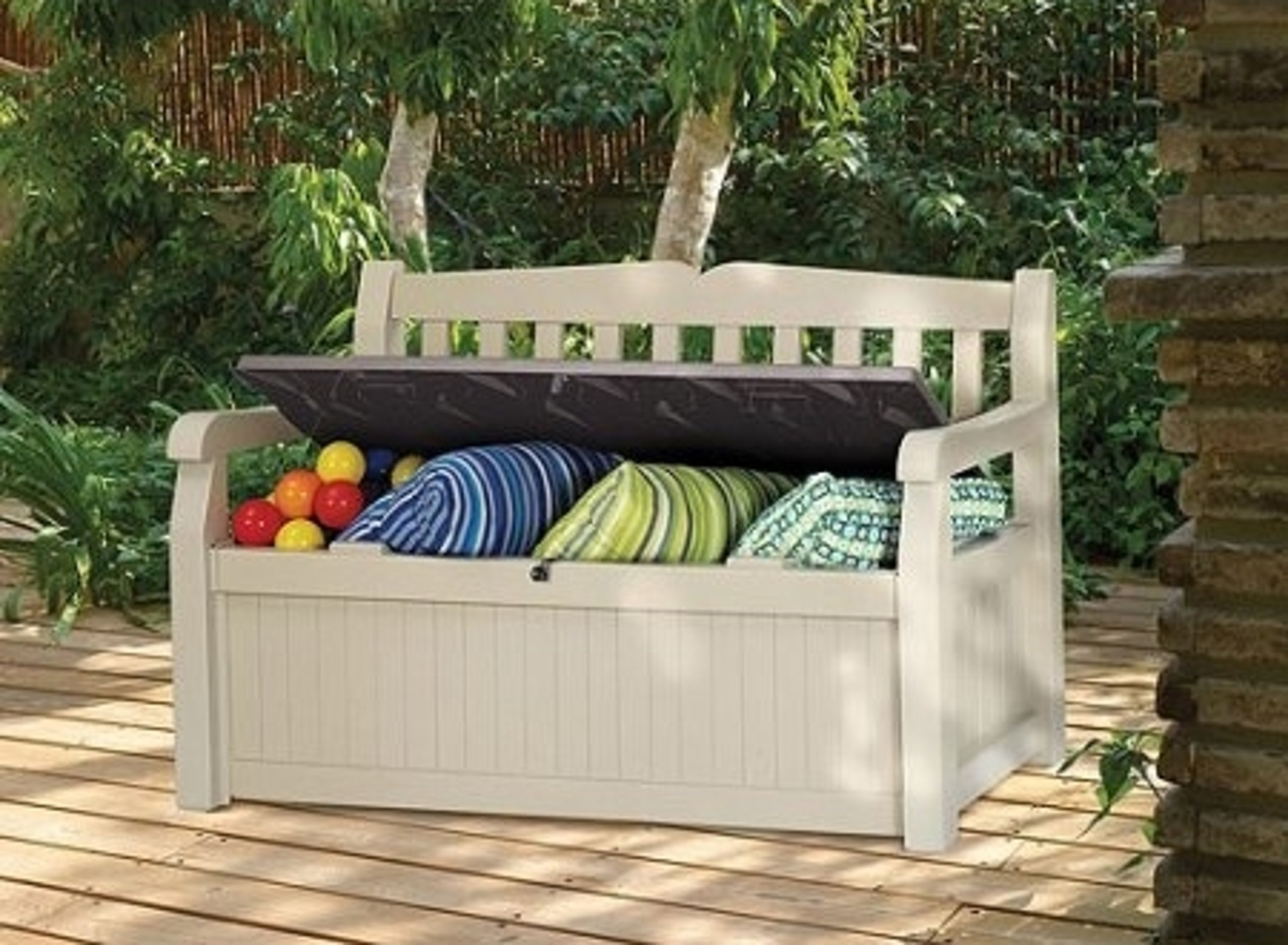 Outdoor Resin All Weather Plastic Seating & Storage Bench by KeterEden (Image #2)